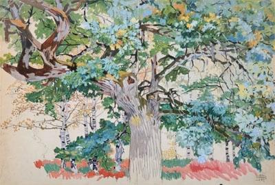 En forêt - Mathurin Méheut