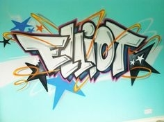 Arts plastiques : graffiti sur son mur de chambre