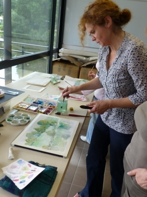 Stage de Gyotaku avec Sylviane Aymé