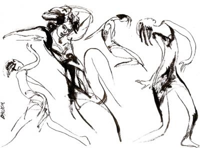 Edmond Baudoin - La Danse du pinceau